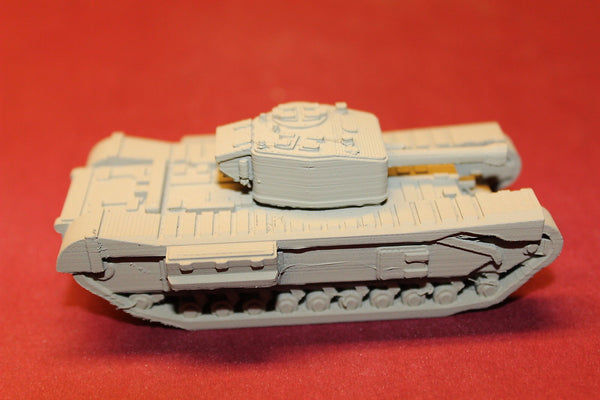 1/87TH SCALE  3D PRINTED WW II BRITISH CHURCHILL MARK IV HEAVY TANK WITH 75MM GUN