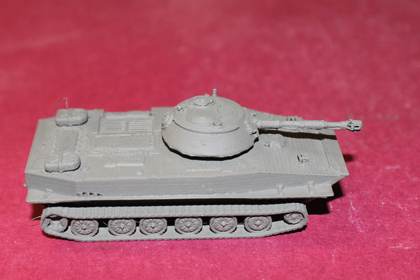 1/72ND SCALE  3D PRINTED SOVIET POST WAR PT 76 AMPHIBIOUS LIGHT TANK WFUEL TANKS