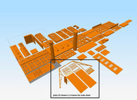 1-87TH SCALE 3D PRINTED MILWAUKEE ROAD DEPOT MINNEAPOLIS MN TRAIN SHED ONLY KIT