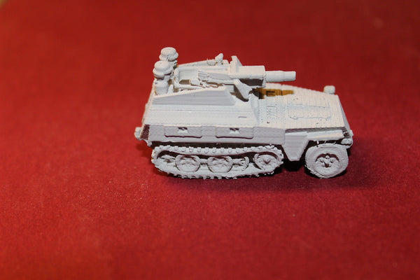 1/87TH SCALE  3D PRINTED WW II GERMAN SDKFZ 251 D9 STUMMEL 75 MM L24 GUN
