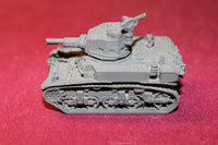 1/87TH SCALE 3D PRINTED WW II U. S. ARMY STUART M3A1 TANK