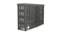 1/160TH  N SCALE 3D PRINTED MILWAUKEE, WI BUILDING #15