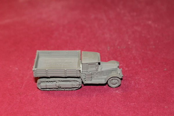 1-87TH SCALE 3D PRINTED WW II RUSSIAN ZIS-22 HALF TRACKED TRUCK OPEN