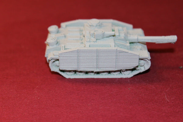 1/87TH SCALE  3D PRINTED WW II GERMAN STURMGESCHÜTZ III (STUG) WITH SIDE ARMOUR
