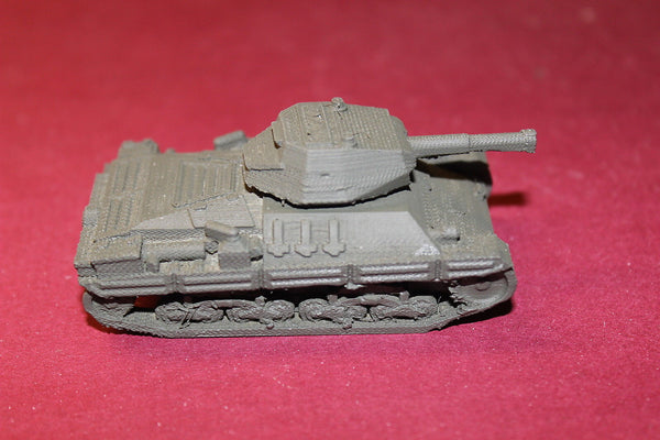 1/72ND SCALE  3D PRINTED WW II ITALIAN CARRO ARMATO P 26/40 HEAVY TANK