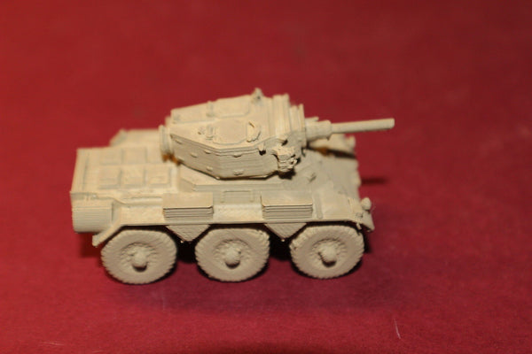 1-72ND SCALE 3D PRINTED BRITISH POST WAR FV601 SALADIN SIX-WHEELED ARMOURED CAR
