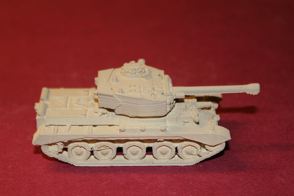 1/72ND SCALE  3D PRINTED WW II BRITISH COMET TANK, 77MM HV GUN