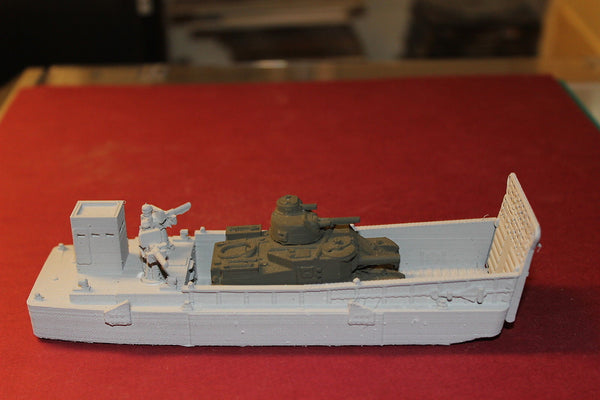 1/72ND SCALE  3D PRINTED WW II U.S. NAVY HIGGINGS LCM(LANDING CRAFT MECHANIZED)