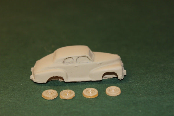 HO SCALE 1947 CHEVROLET SPORT COUPE 5 PASS RESIN KIT