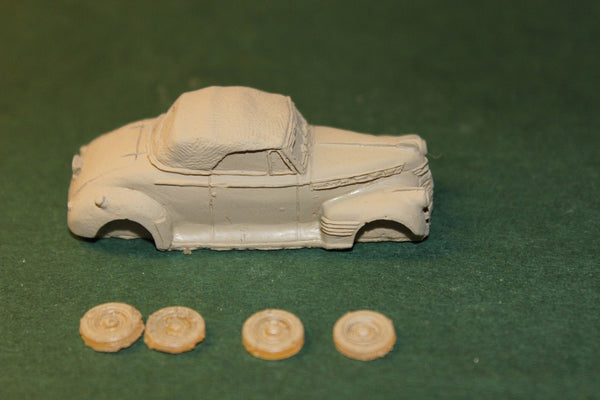 HO SCALE 1941 CHEVY CONVERTIBLE RESIN KIT