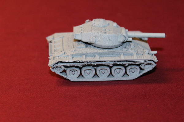 1/72ND SCALE 3D PRINTED WW II U.S.ARMY M 24 CHAFFEE TANK