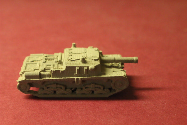 1/72ND SCALE  3D PRINTED WW II ITALIAN SEMOVENTE M42 DA75-34 SELF PROPELLED GUN