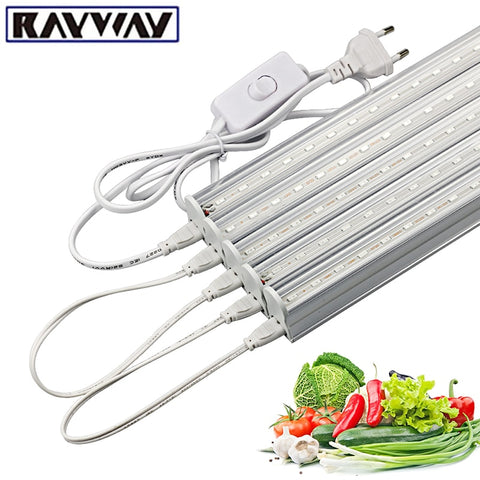 LED Grow Light 50CM Full Spectrum Growing phytolamp Grow Tent SMD5730 Fitolampy Growth Light Strip Bar for Plant Flower Seeding
