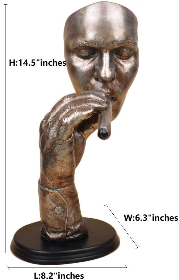 Abstract Sculpture Man Smoking Cigar