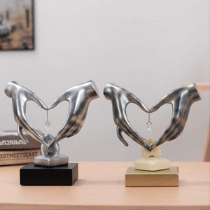Hand Heart-Shaped Figurines Crystal Art