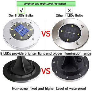 12Pcs LED Solar Power Waterproof Garden Lights for Outdoor