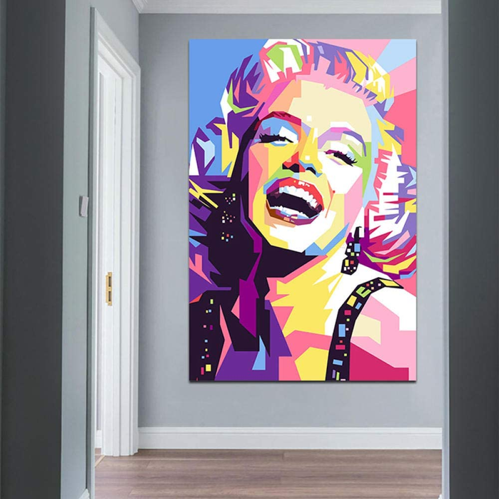 Abstract Colorful Marilyn Monroe Art