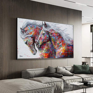 2 Colorful Horses Art
