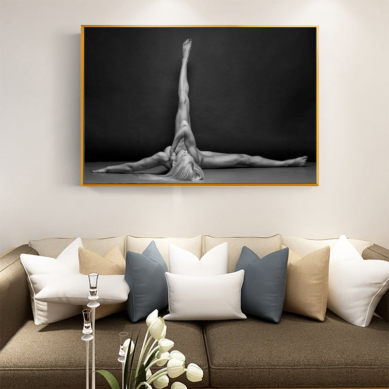The Beauty of the Woman Body on Canvas-Printed