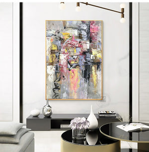 Abstract wall art canvas wall