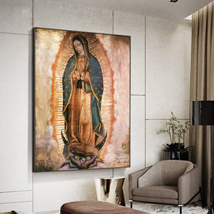 The Day of The Virgin of Guadalupe In Mexico Art Print