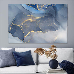 Colorful Golden Cloud Wall Art