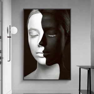 Black And White African Girl Posters (No Frame)