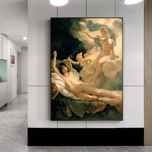 Flying nude for woman wall art