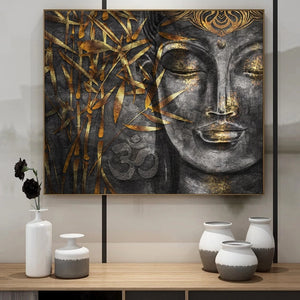 The Golden Buddha Art in Canvas