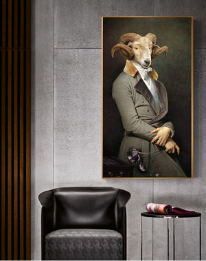 Gentleman  Animal in Canvas Posters