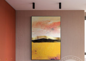 Modern Abstract Multicolored Canvas handmade Painting