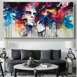 Watercolor Abstract Men and Women handmade painted