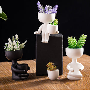 Creative Humanoid Ceramic Flower Pot Vase