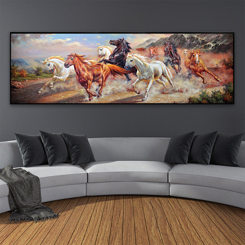 Creative Extra Large Horses Running Art