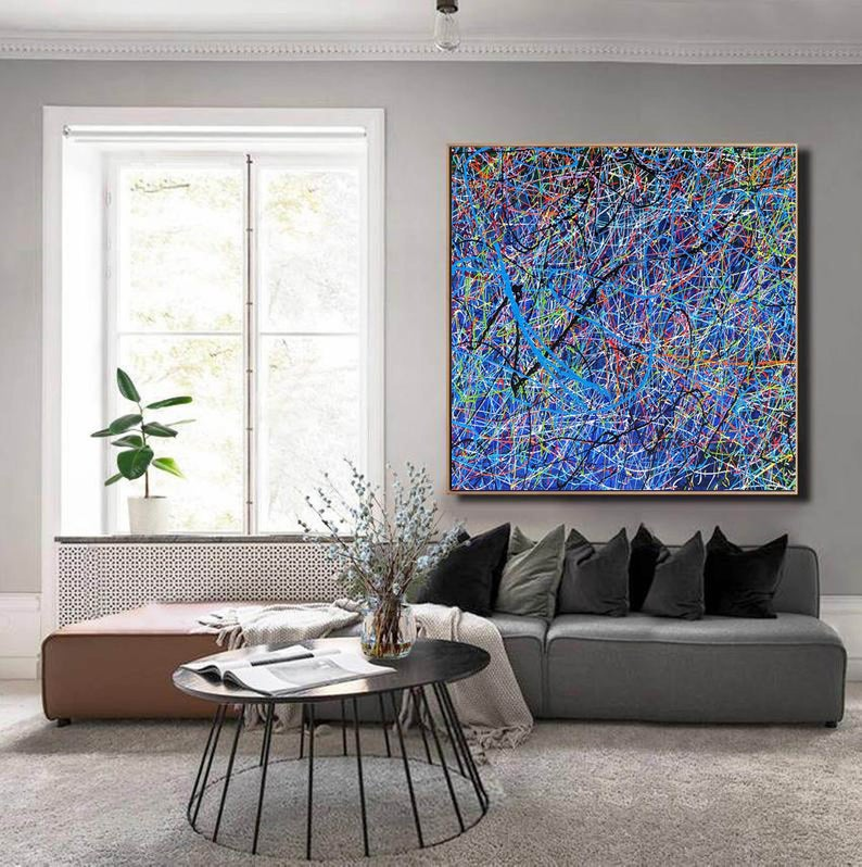 Abstract Painting Splatter Drip Painting