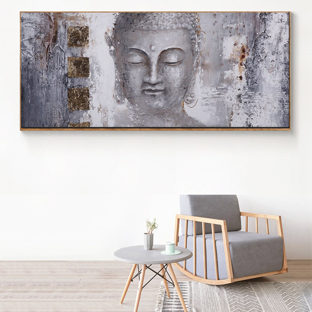 Large Size Buddha in Canvas Art
