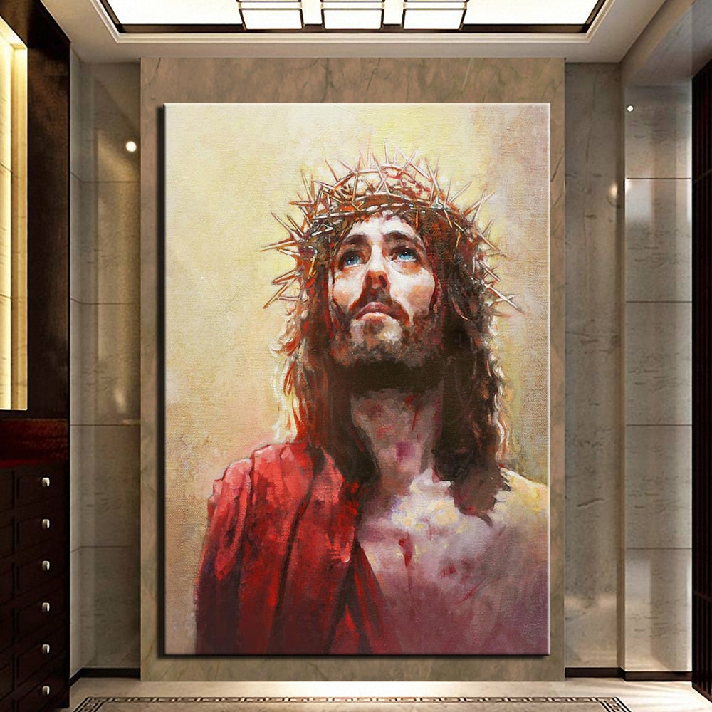 The Passion of Christ in Print Canvas