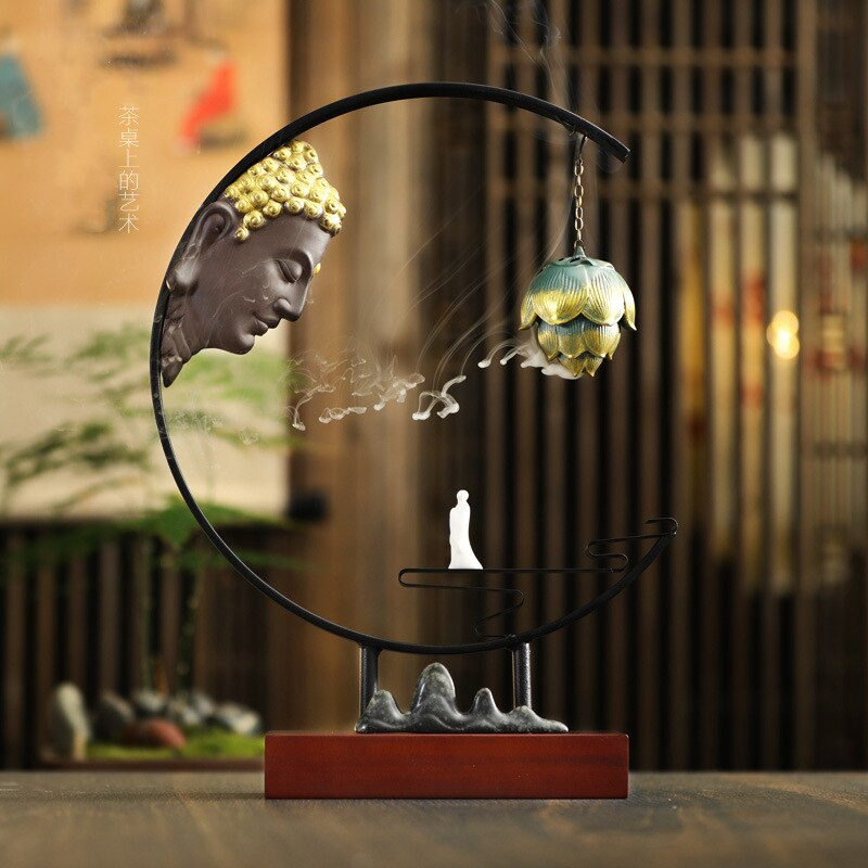 HANDMADE Creative Zen Buddha Incense Burner For Living Room or Office