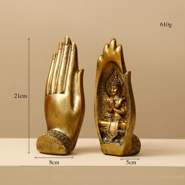 2 Pcs/set Resin Buddha Statues