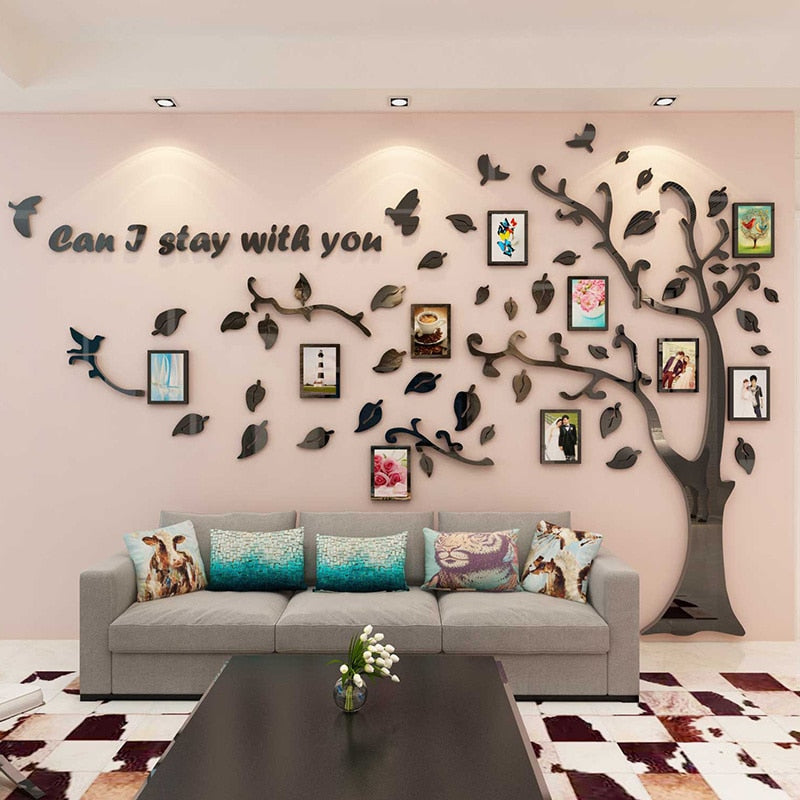 3D  Acrylic Wall Tree Stickers