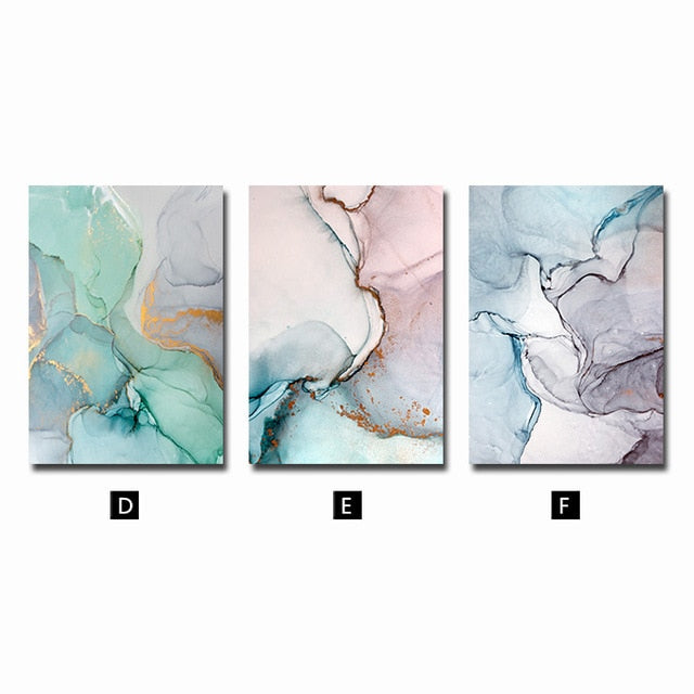 Marble Abstract Canvas modern poster