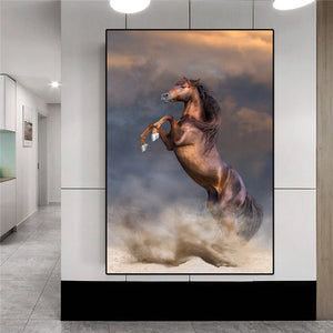 The standing Horse Art-Canvas or Acrylic