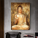 Gold Color Canvas Buddha Printed in Canvas or Acrylic