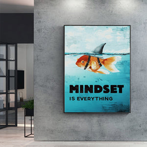 Mindset Is Everything -Shark -Fish Pictures Motivational Poster