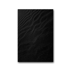 Modern Black Wave Canvas Art