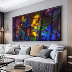 Large Size Colorful Forest Trees Art
