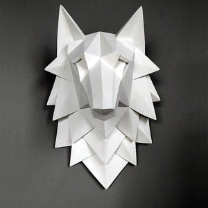 Abstract Wolf Head Statue