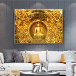 Golden Lord Buddha on Canvas Art