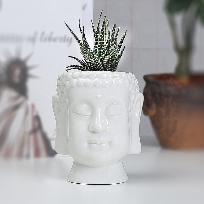 Ceramic Buddha Plant Pot