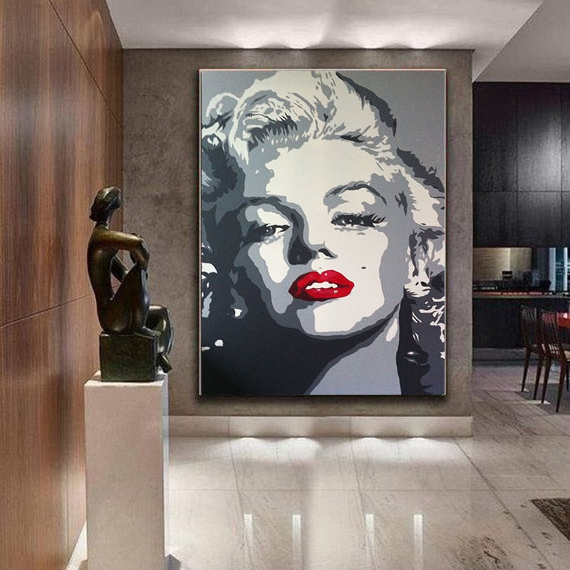 Marilyn Monroe Art on Canvas